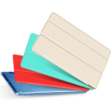 for iPad Air 2 PU Leather Case with Smart Cover Auto Sleep/Wake +Screen Protector for Apple iPad Air 2