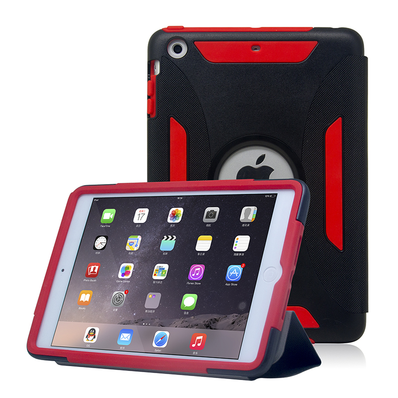 Tablet Accessories ! For iPad Cover 2016 Colorful Hybrid Armor Case for iPad Mini