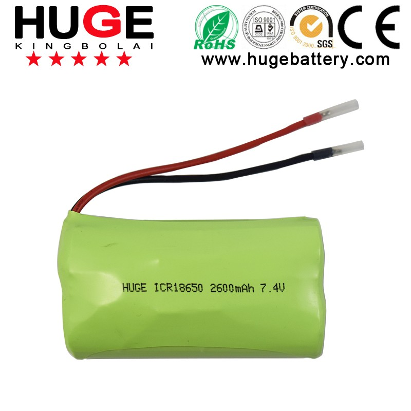 3.7V ICR17500 1100mAh cylindrical rechargeable Li-ion battery