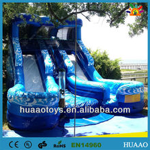 Commercial hot ocean themed inflatable slide for sale