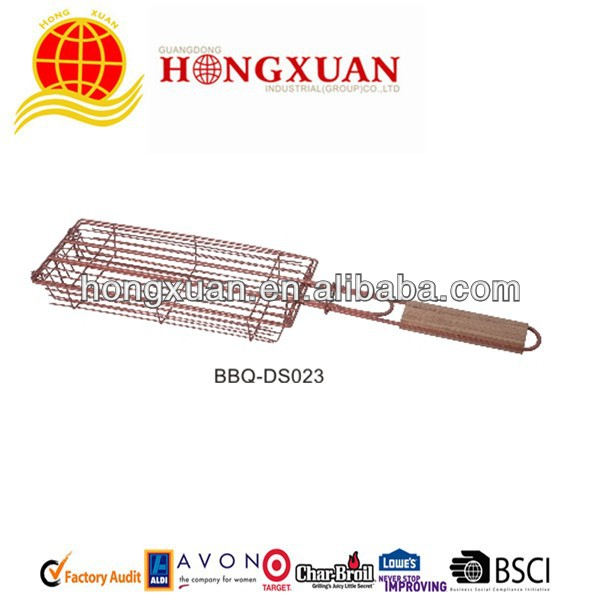 Non-stick BBQ Hot dog Grilling Net With Cover