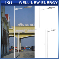 single & double arm galvanized octagonal conical street lighting lamp pole