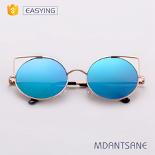 Custom logo simply style round metal sunglasses manufacturer