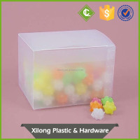 Custom transparent plastic packaging box