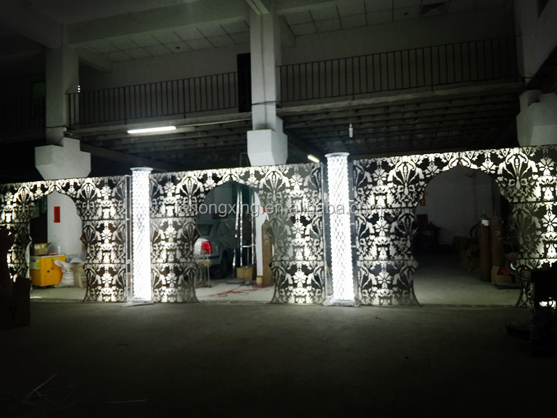 2016 seeling wedding /party backgroung/silver background wedding hall decoration