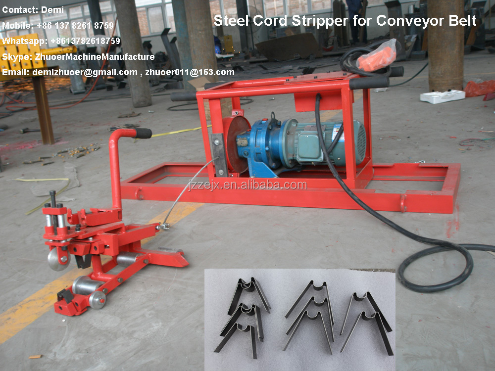 Upper and Lower Knives for Conveyor Belt Cord Stripper