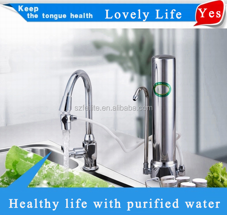 2015 best home non-electric counter top water filter best kitchen non-electric counter With Ceramics Membrane