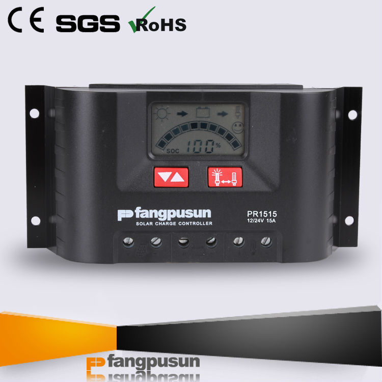 180w / 360w solar panel 5a 10a 15a solar charge controller 24 volt with CE & ROHS