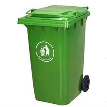 plastic commercial square garbage can