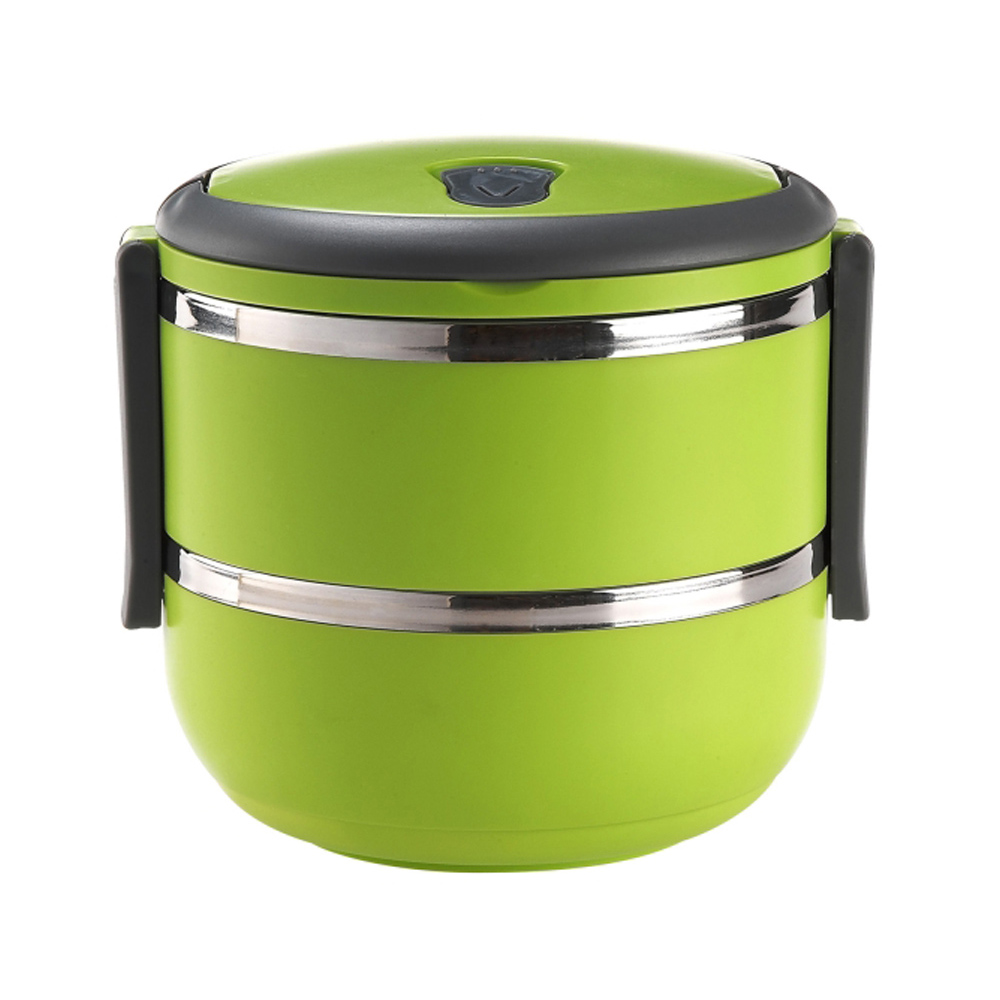 Metal Stainless Steel Insulated Hot Thermal Food Containers Keep Warm Lids