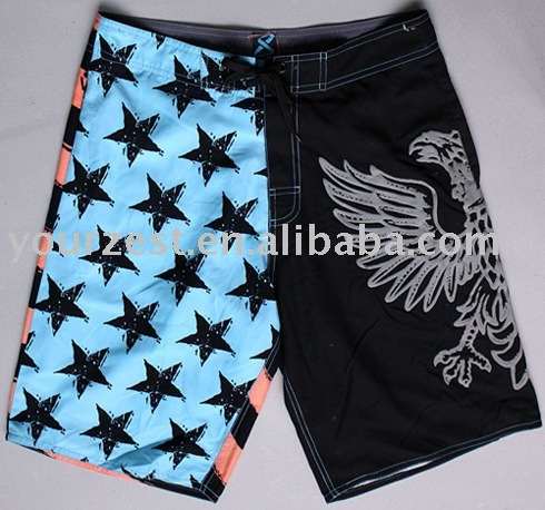 MAN'S BEACH TRANSFER PRINT SHORTS