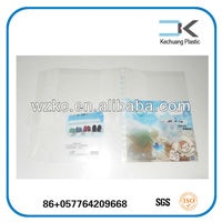 Tranparent Stationery PP Plastic soft printed pp book cover