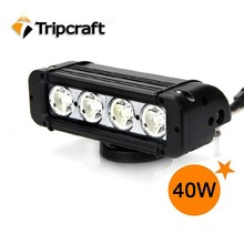 High Power 10W C ree Led Light Bar 7.8 Inch 40w Led Off Road Light Bar