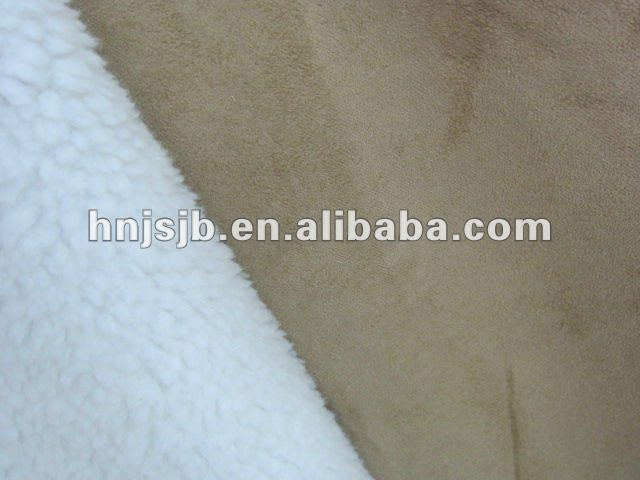 knitted faux fur fabric /lamb fur fabric/curly fleece fabric