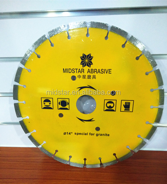 Hot Press Sintered Segmented Diamond Saw Blade For Cutting Granite Marble