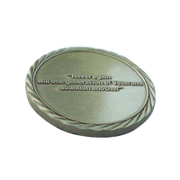 Wholesale double sides antiqu plating blank metal challenge coin