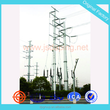 11kv 132kv steel tubular transmission line tower