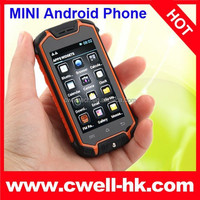 Hot Z18 MINI Android 4.2 Waterproof Dustproof Shockproof Mobile Phone with 2.5 inch Capacitive Touch Screen MTK6572 Dual Core