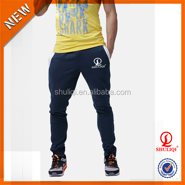 Mens gym tapered jogger cross fit tracksuit bottoms 2015 new style tracksuit bottoms