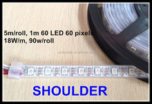 5m 60 Pixels/m 60leds Individually Addressable WS2812B WS2812 5050 RGB LED Strip 5V white PCB rgb led light stirp