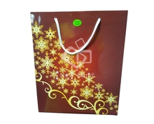 Creative design led Christmas gift paper bag fiber optic light bag flash light bag