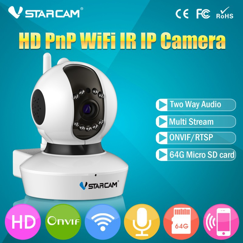 VStarcam C7823WIP No Ethernet Cable Wifi Setting Megapixel Night Vision Motion Detection 720P PTZ Wifi Onvif 2.0 P2P IP Camera
