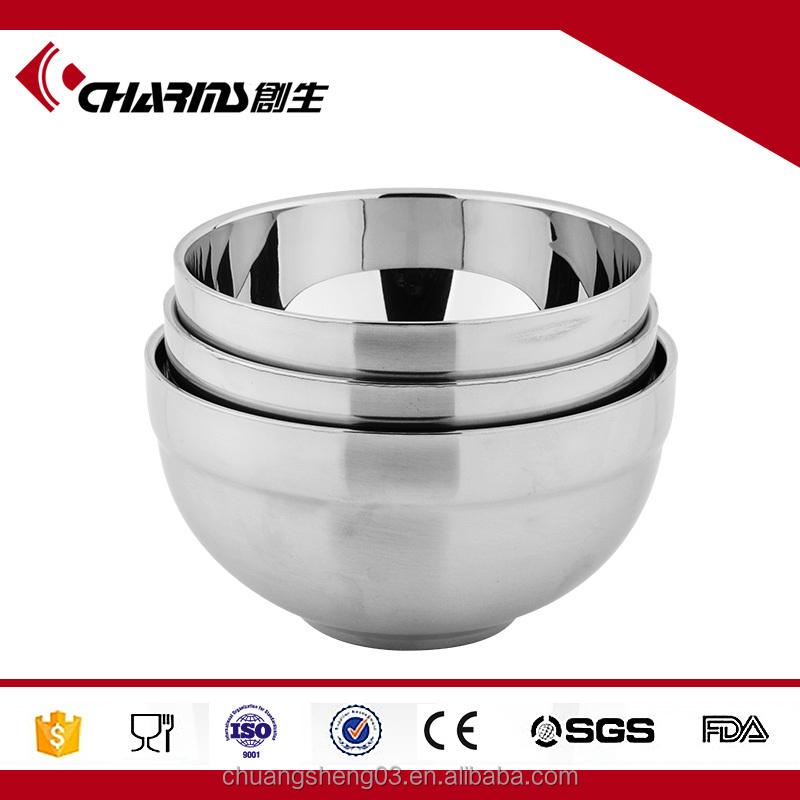 4.5 Inch Double-layer Insulated Welding Edge Metal Bowl