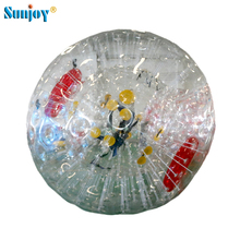 Promotion 1.0mm thickness pvc tarpaulin 3*2m baby kids land challenge inflatable zorb ball