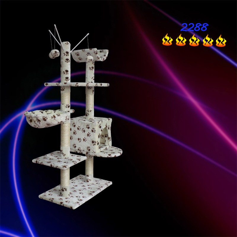 Cat Tree Scratcher Hammock Bed. Pet Kitten Kitty Scratch Soft Plush Tower Post