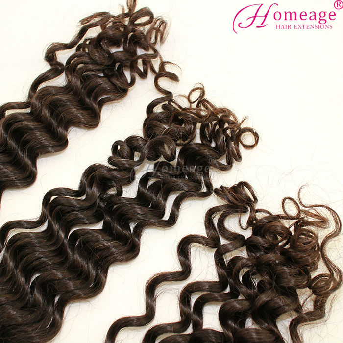 Homeage 2014 hot sale brazilian loose deep wave weave hairstyles