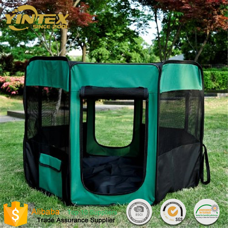 Durable Folding soft Exercise cat dog kennel pet tent carry bag carrier fence playpen