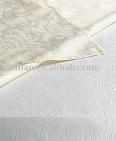 Cotton damask table linen, napkin, serviette, placemat, plain dyed, printed, embroidery