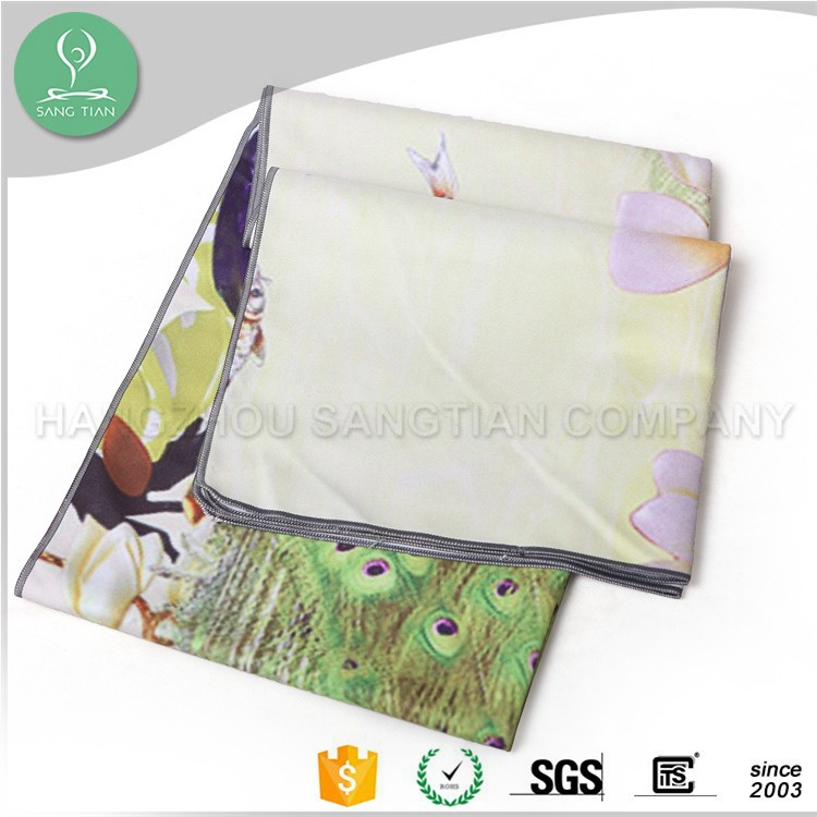 Custom Printed Yoga Towel Softtextile Microfiber Yoga Mat Towel