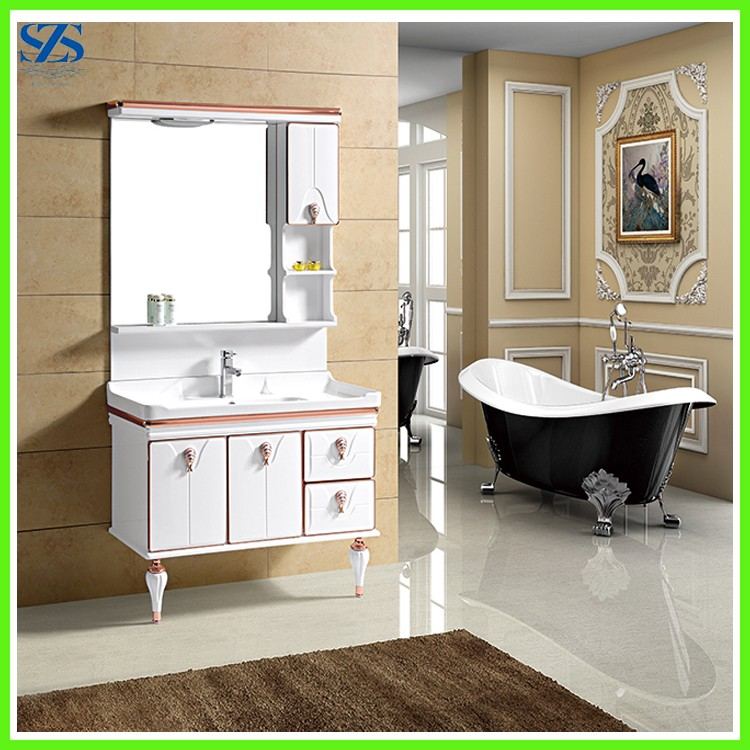 Floor Standing Cheap Used Bathroom Vanity Cabinets With Drawers Wholesale