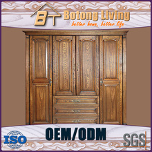 Botong Living W36 Solid Wood Carving Antique Furniture Two Door Wardrobe