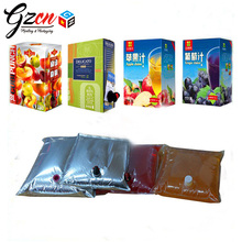 customzed 1.5 3 5 10 20 110 220L for juice wine water liquid foil sliver transparent clear bag in box