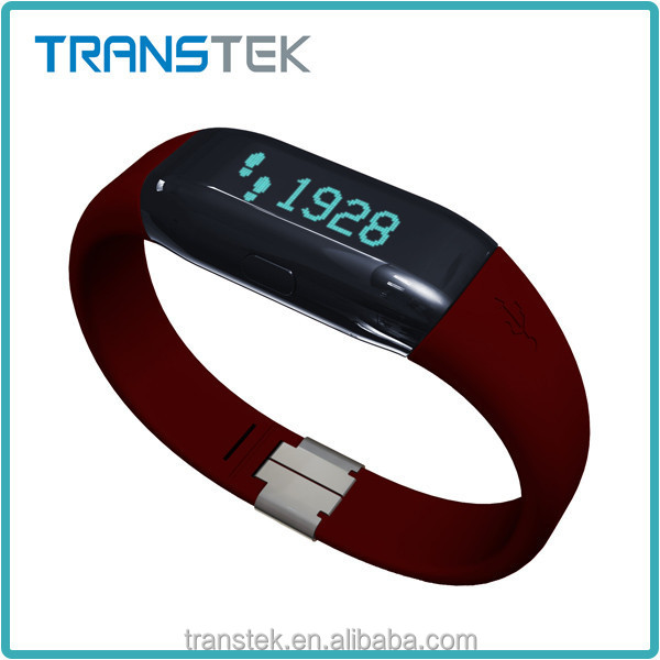 Luxury durable calorie pedometer watch with wristband