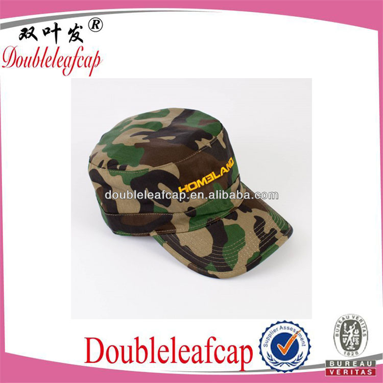 fashion custom camo cotton material military cap army cap hat and cap