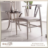 2016 modern design stainless steel coffee table and chair