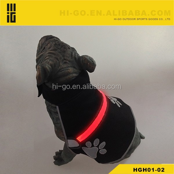 newest 2015 hot products high quality products LED Nylon dog reflectiing safety refletive vest Harness