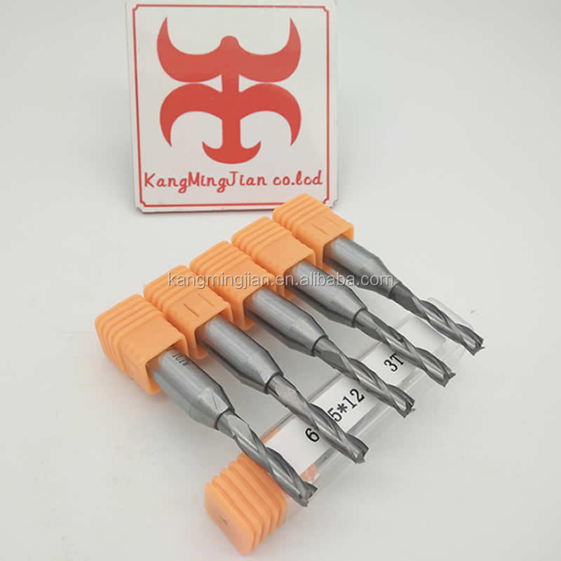 CNC three-flute spiral TCT router bit for hardwood and MDF
