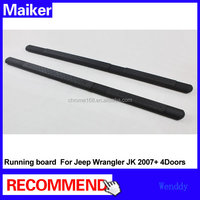 Stainless steel Running boards For Jeep Wrangler JK 2007+ 4doors side step bar tuning parts
