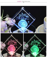 New arrival crystal photo& image 3d laser cube