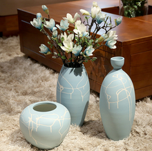 China jingdezhen supplier best price tall vases jar pottery tall vases hotel school and restaurant lobby floor vase set