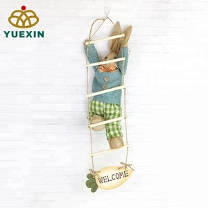 High Quality Easter Hanging Decoration Bunny Rabbit Climbing Ladder