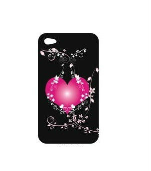 PC Hard phone case Attracting Heart Design For iphone4 / 4S Cover