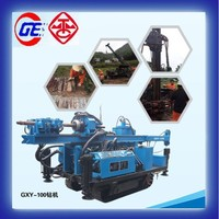 2015 hot sale New Condition and Diesel Power GXY-100 hydraulic rotary water drilling rig machine