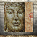 bandmade canvas buddha oil painting for sale