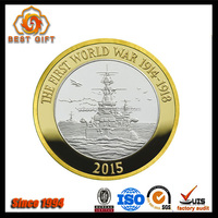 Customized Logo Gold Silver Plated Honor Alloy Medal Coin