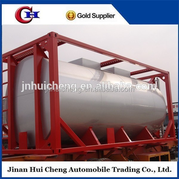 China Manufacture safety 20ft ISO Cylinder Crude Oil Tank Container low price for sale